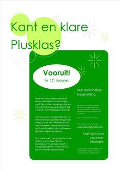 Kant en klare plusklas nu ook in 2016 Zie www.verrijkjedag.nl Coaching, Kids Gifts, Planer, Spelling, Montessori, Mindfulness, Classroom, Teacher, Personal Care