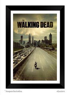 poster the walking dead - R$55,00 - moldura preta ou branca