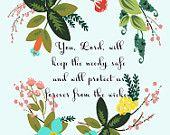Christian Wall Art- Psalm 12:7- 8.5X11 Printable - BV-124