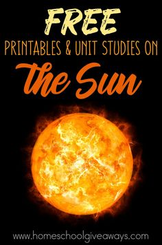 FREE Printables and Unit Studies on the Sun - Homeschool Giveaways Moon Activities, Space Activities, Science Activities For Kids, Science Lessons, Science Ideas, Science Projects, Science Crafts, Experiments Kids, Science Fun