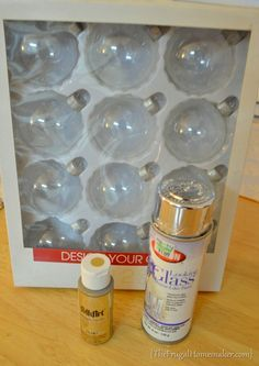 DIY Mercury Glass Ornaments - here we go - we'll be making all your gold mercury glass candle holders - we can do this Ness!!