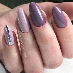 and Beautiful Nail Art Designs Elegant Nails, Classy Nails, Stylish Nails, Nagellack Trends, Trendy Nail Art, Best Nail Art Designs, Nagel Gel, Purple Nails, Color Nails