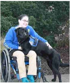 """I have dystonia, which causes abnormal, uncontrollable movements and twisted posturing of your body. Recently, dystonia has seemed like something I cannot escape. Then in February 2009, I was paired with Service Dog Caspin, and my life has changed in amazing ways. I feel like my dystonia matters less with Caspin by my side. I can focus on my goals and dreams, and he always seems to make the pain more bearable.    I have been back home in Davis for four days now, although it seems like I've ..."