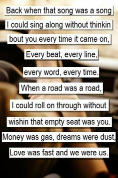 lyrics~I love! It was what I was signing along to but now things are turning round