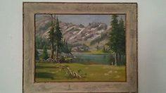 E B. QUIGLEY (Oregon 1895-1984) Lake Steamboat 1954 12 x 16 painting original