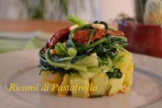 Torretta di verdure ottima come cena vegetariana oppure come antipasto coloratissimo