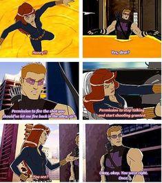 Hawkeye and Black Widow - Avengers Assemble S01E08
