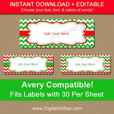 Free Christmas Santa Address Label Template For Ms Word