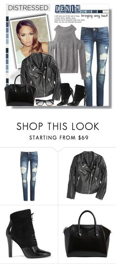 """""""Distressed Denim Style"""" by teah507 ❤ liked on Polyvore featuring Arden B., 3.1 Phillip Lim, Givenchy, Tom Ford and distresseddenim"""