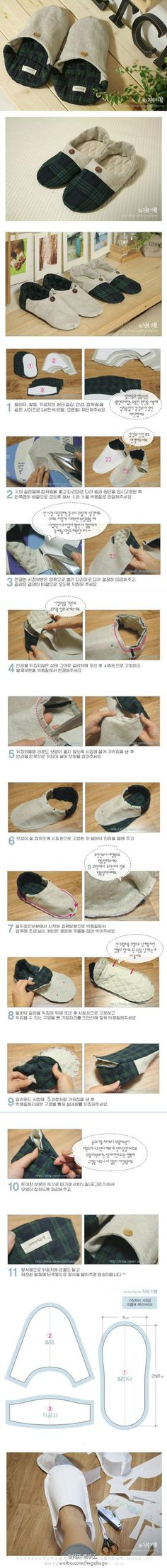 DIY Korean Style Home Shoes