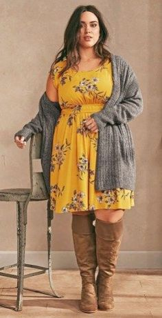 Trendy Fall Fashion Trends Ideas For Plus Size Women - Trendy Fall Outfits, Curvy Outfits, Mode Outfits, Fall Fashion Trends, Autumn Fashion, Plus Size Dresses, Plus Size Outfits, Plus Size Sommer, Plus Size Clothing Stores
