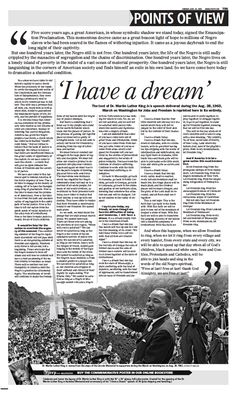 Martin Luther King's 'I Have A Dream' speech written in it's entirety.