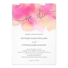 Wedding Designs Vibrant Dreams Wedding Invitation - beautiful hand-painted, one-of-a kind watercolor design! / Pink Peach - Vibrant Dreams Wedding Invitation - beautiful hand-painted, one-of-a kind watercolor design! Peach Wedding Invitations, Watercolor Wedding Invitations, Wedding Invitation Design, Custom Invitations, Invitation Cards, Invites, Invitation Ideas, Wedding Trends, Wedding Designs
