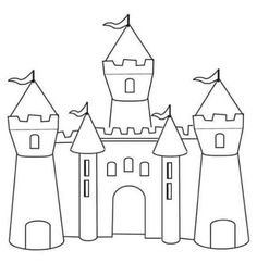Castles Coloring Pages | origami | Pinterest | Castles, Castle ...