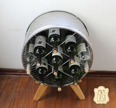 Looking for a new storage unit for your home? DIY it with your old washing machine drum.  #upcycled #recycled #DIY