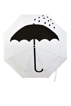 Color Negro y Blanco - Black & White!!! Keep Dry Umbrella❤