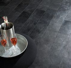 Pampas in Pitch Black by Alphenberg Leather Flooring