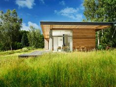 off the grid house natural wood