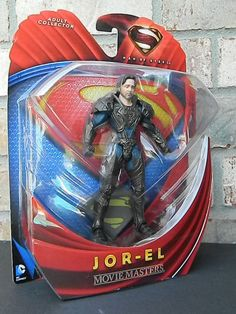"""SAME DAY SHIPPING AND 3 DAYS DELIVERY FOR USA. Shipping from NJ USA.Superman Man of Steel Movie Masters    6"""" Action Figure    MANUFACTURED: 2013 Mattel    DESCRIPTION: Includes (1) 6"""" inch tall action figure Jor-El, fully articulated (with moving parts) & stand!!!    CONDITION: Mint (factory sealed)    SERIAL NUMBERED: None    NOTES: In excellent condition, never been opened. For ages 4 and up.    Movie Masters figures are designed with the ultimate authentic detail and supreme quality to…"""