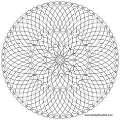 mandala to color in jpg or transparent png versions..nice 5 color mandala that would look cool on a rock!