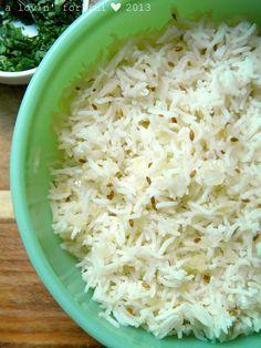 Cumin-Scented Basmati Rice Pilaf recipe - All 4 Women Basmati Rice Recipes, Rice Pilaf Recipe, Cumin Rice Recipe, Cooking Classes, Cooking Tips, Cooking Recipes, Rice Grain, Indian Dishes, Rice Dishes
