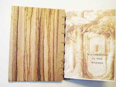 Artists Hand made coptic stitch book. Tree Book