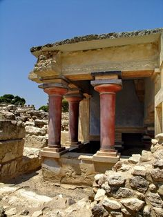 The Palace of Knossos on the Island of Crete...centre of the Minoan civilization