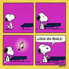 And now, a musical selection from Snoopy!