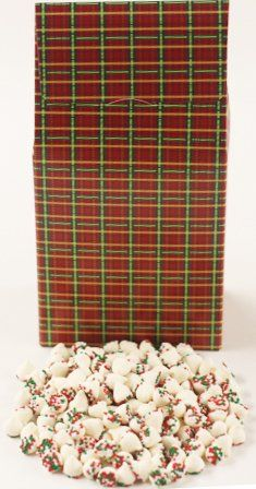 Scott's Cakes Christmas Mint Chip Candies in a 8 oz. Standing Christmas Plaid Box ** More info @