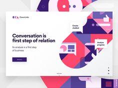 ConvLink Landing Page designed by Michał Kociszewski for GogoApps. Connect with them on Dribbble; Web Design Services, Web Design Trends, App Design, Flat Design, Quiz Design, Design System, Mobile Design, Brand Design, Interface Web