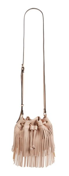 A double tier of swingy fringe sets off this trend-right bucket bag done in a mini silhouette. With just enough room for stowing essentials, this faux-leather crossbody is perfect for everyday wear.