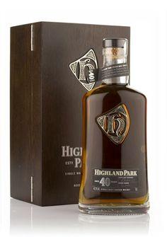 Highland Park 40 Year Old Single Malt Whisky Alcohol Bottles, Liquor Bottles, Scotch Whisky, Tequila, Bourbon, Barris, Spiritus, Single Malt Whisky, Cigars And Whiskey
