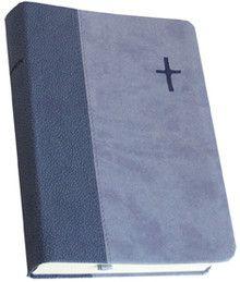Raamattu, keskikokoinen, nahkajäljitelmäkannet, 92 –käännös violetti/Suomen Pipiliaseura