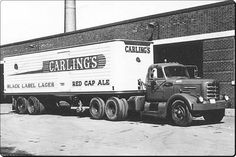 Carling's Black Label Lager – Red Cap Ale Carling's Black Label Lager – Red Cap Ale Old Ford Trucks, Big Rig Trucks, Semi Trucks, Cool Trucks, Mack Trucks, Tow Truck, Antique Trucks, Vintage Trucks, Diesel Cars