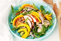 Tandoori chicken and mango salad with lime dressing