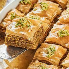 Vegan Baklava- No dairy! - The Big Man's World ® Vegan Baklava, Baklava Recipe, Vegan Cake, Healthy Desserts, Gluten Free Recipes, Vegan Recipes, Phyllo Dough, Vegan Butter, Home Recipes
