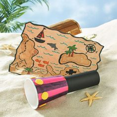 Crafts always add to one's imagination, Matey. Enjoy your seafaring adventures with this DIY paper crafted Spyglass by Michaels. Treasure Maps For Kids, Treasure Hunt Map, Island Crafts, Pirate Activities, Map Crafts, Plate Crafts, Construction Crafts, Pirate Theme, Pirate Birthday