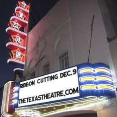 ribbon cutting - reopening of the Texas Theatre by Aviation Cinemas (Dec 9, 2010)