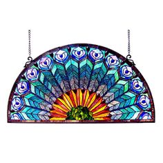 Chloe Lighting Peacock Window Panel