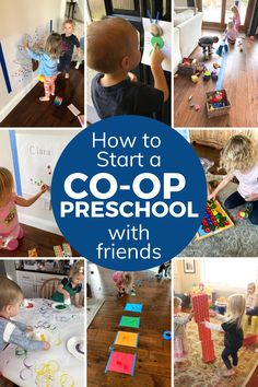 How to Start a Co-op Preschool with Friends - Toddler Approved Preschool Learning, Friends, Toddlers, Baseball Cards, Kids, Boyfriends, Toddler Boys, Infants, Baby Baby