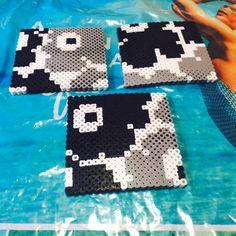 Inspired Marimekko coaster set perler beads by Perler Beads, Perler Bead Art, Fuse Beads, Crafts To Do, Bead Crafts, Arts And Crafts, Diy Crafts, Hama Beads Patterns, Beading Patterns