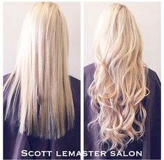 Cinderella extensions by Kendra, at Scott Lemaster Salon and Spa.