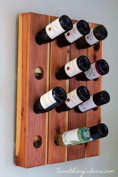 DIY Wine Rack (Riddling Rack) ~ made of fence pickets