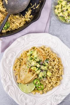 One Skillet Cumin & Lime Chicken with Avocado-Pineapple Salsa
