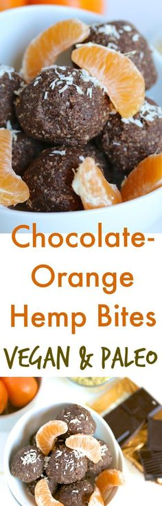 These Chocolate-Orange Hemp Bites are vegan and paleo-friendly, dairy-free with no added sugars. Can be made quickly for a healthy treat.