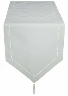 Xia Home Fashions 15 By 90 Inch Melrose Easy Care Cutwork Hemstitch Table  Runner,