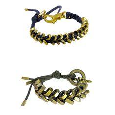 hex nut chevron bracelets, she has a real good adaptation for guys too!! #DIY -via- whollykoa