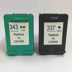 Big sale US $14.86  For HP 337 343 Ink Cartridge for HP337 343 Photosmart C4180 2575 8050 D5160 Deskjet 6940 D4160 Officejet 6130 6315 Printer  #Cartridge #Photosmart #Deskjet #Officejet #Printer  #Electronics