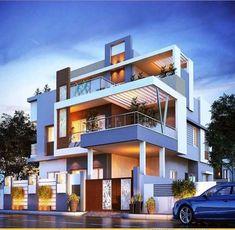 Modern home design Modern Bungalow Exterior, Modern House Facades, Modern Exterior House Designs, Classic House Design, Unique House Design, House Front Design, Architect Design House, Bungalow House Design, Architecture Design