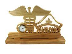 Nurse Desk Or Shelf Clock Handmade From Ash Wood By KevsKrafts